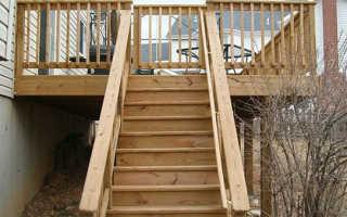 Как сделать лестницу на улице на крыльцо своими руками