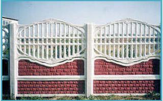 Бетонный забор секционный как установить