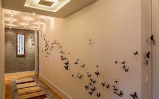 Сделать бабочку своими руками для декора стены