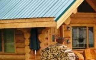 Строительство крыши баня из бруса
