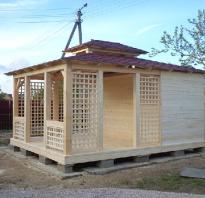 Угловой сарай с односкатной крышей