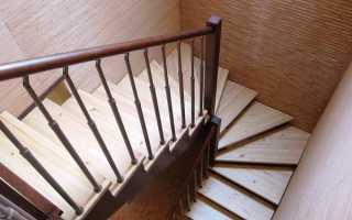 Как сделать лестницу с забежными ступенями на 180 градусов своими руками