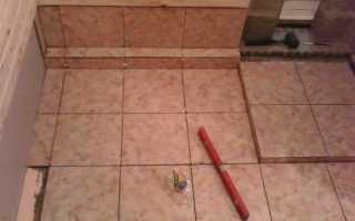 Баня полов керамической плиткой своими руками