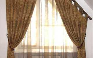Гардины на скошенные окна своими руками