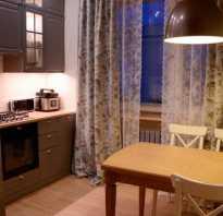 Шторы на кухню на два окна своими руками