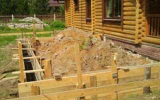 Фундамент своими руками пристройка к дому