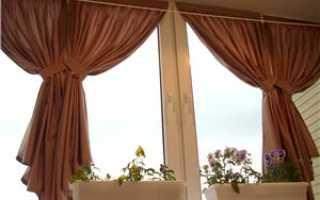 Сшить шторы своими руками на балкон