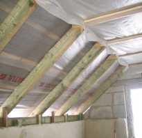 Теплоизоляция наклонных стен и крыши