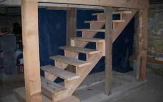 В подвал лестница своими руками сделать из металла