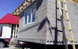 Баня из пеноблока строительство крыши