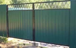 Как делаются ворота на забор