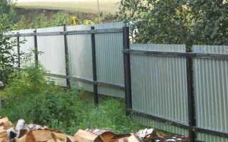 Как дешево поставить забор из профнастила