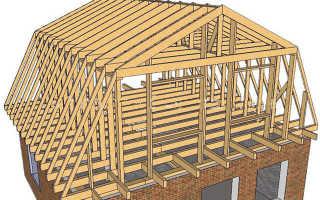 Крыша для дома с мансардой своими руками