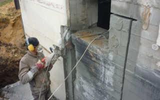 Вырезать проем в бетонной стене своими руками