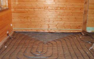 Банная печь с теплообменником для теплого пола