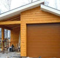 Чертеж гараж и баня под одной крышей