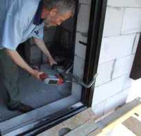 Как установить входную металлическую дверь в газобетон