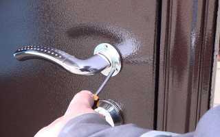 Как снять железную дверь