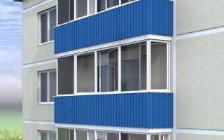 Как закрыть балкон профлистом своими руками