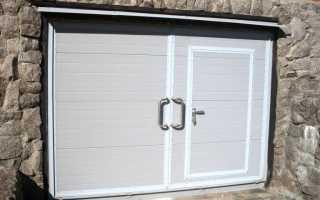 Как сделать дверь в гараж