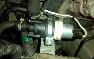 Электродвигатель с насосом охлаждающей жидкости системы отопления салона