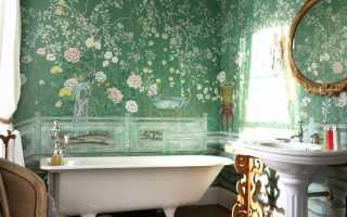 Покраска стен ванной комнаты своими руками фото