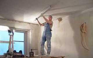 Штукатурка и шпаклевка потолка своими руками видео