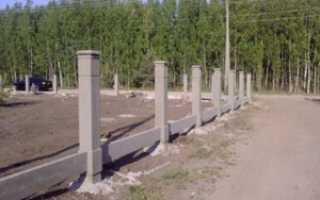 Бетонные столбы под забор своими руками