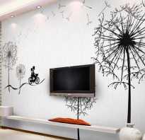 Рисунки на стенах в квартире своими руками какой краской